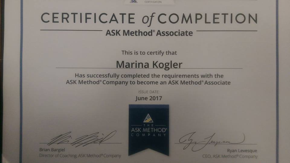 ASK Method® Associate Exam - for ASK Method Certification